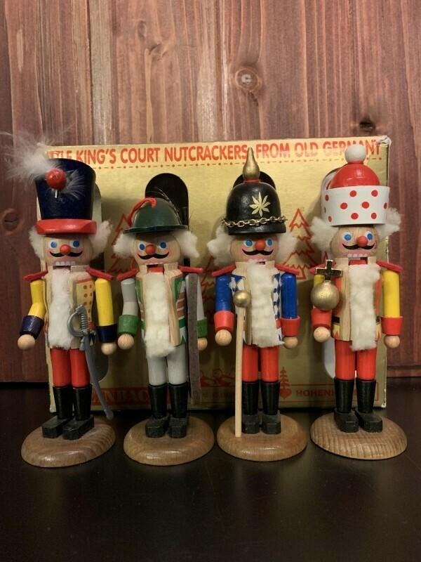 4 Little King's Court Nutcracker Ornaments