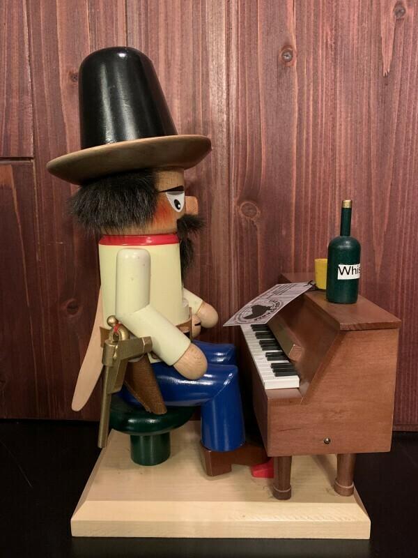 Cowboy on Piano Nutcracker and Music Box