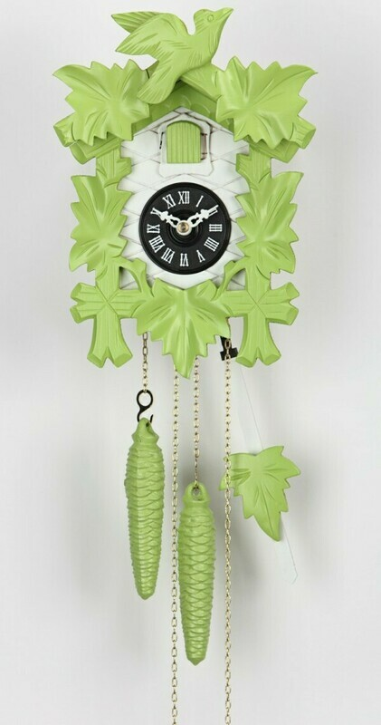 1-Day Green Carved Cuckoo Clock