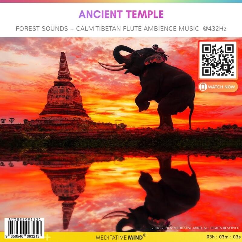 ANCIENT TEMPLE - Forest Sounds + Calm Tibetan Flute Ambience Music @432Hz