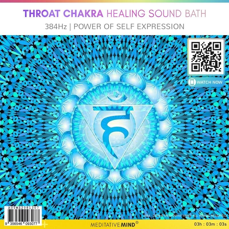 THROAT CHAKRA HEALING SOUND BATH - 384Hz | Power of Self Expression