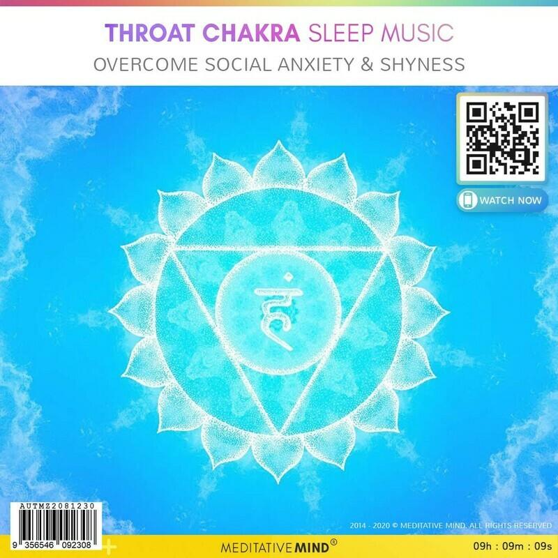THROAT CHAKRA Sleep Music - Overcome Social Anxiety & Shyness