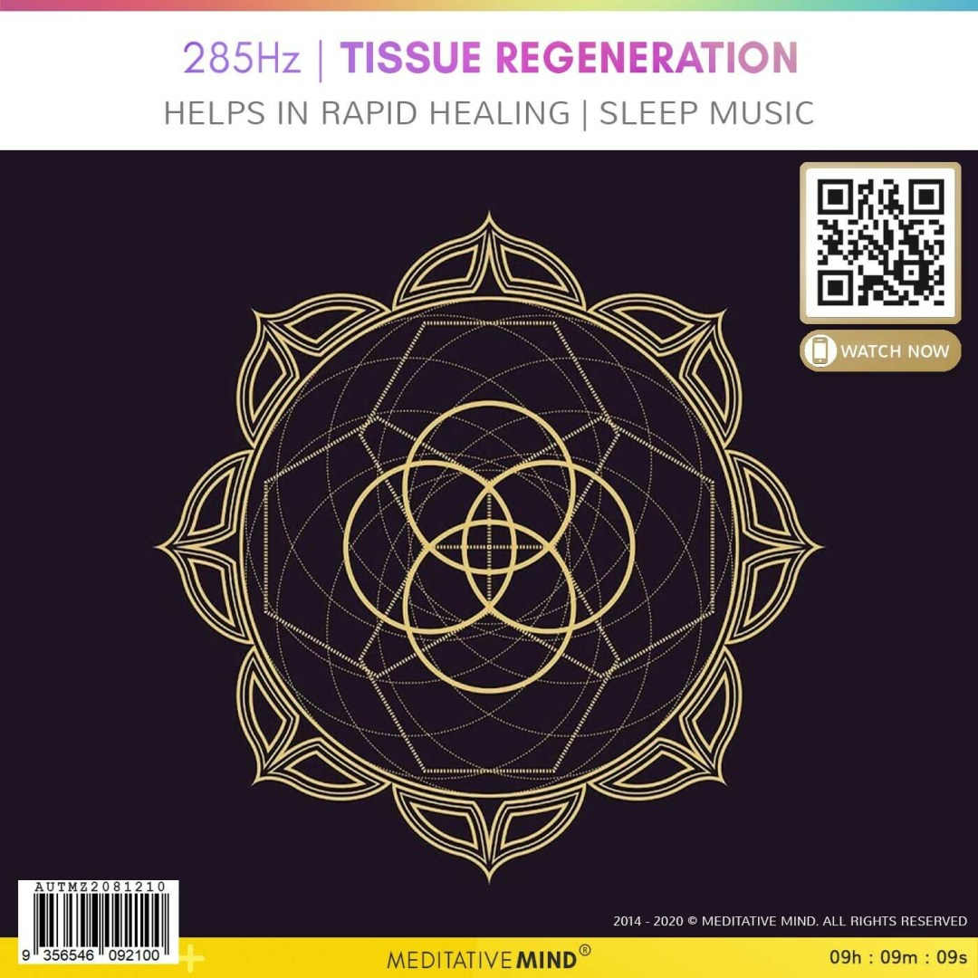 285Hz | Tissue Regeneration - Helps in Rapid Healing | Sleep Music