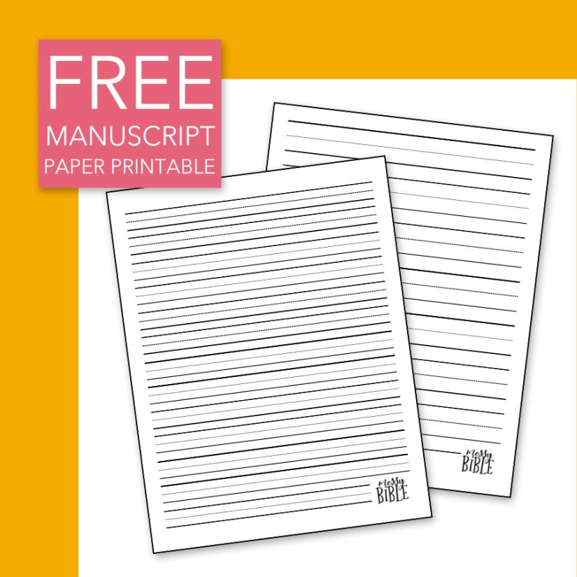 FREE Manuscript Paper Printable 6013