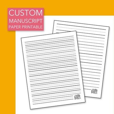 Custom Manuscript Paper Printable