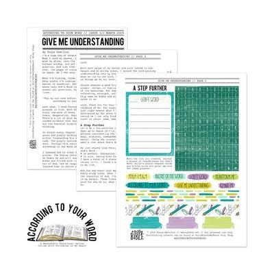 Give Me Understanding Devotional Kit (March '19 ATYW Digital Kit)