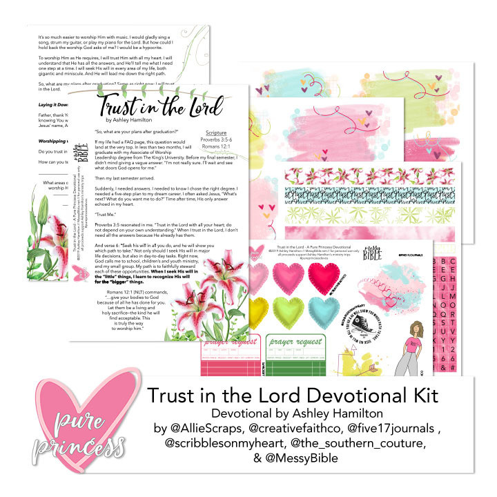 Trust in the Lord Devotional Kit (Digital Kit) - FUNDRAISER!