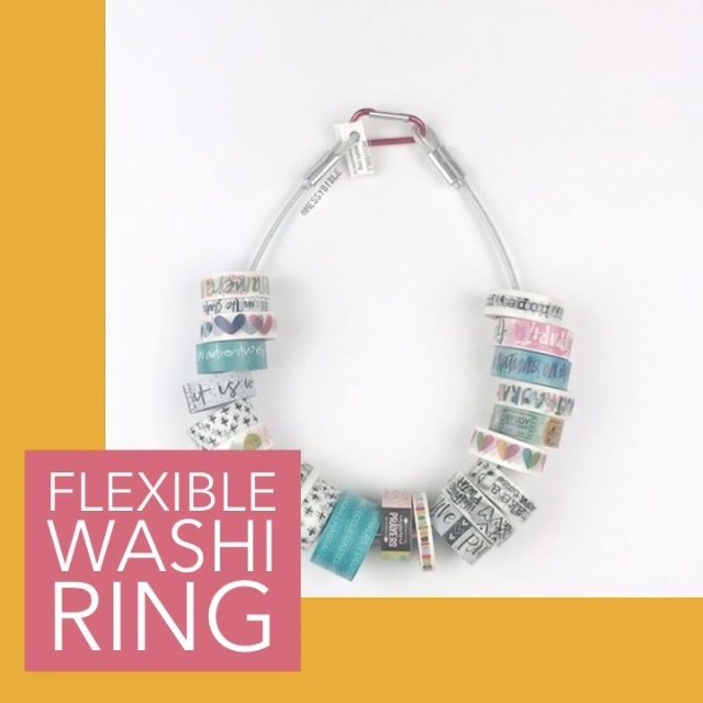 Flexible Washi Ring - Purple Clip