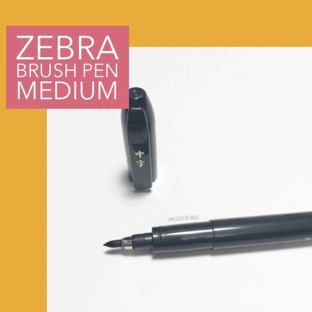 Zebra Brush Pen - Medium (WF3)