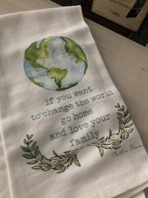 Change The World Dish Towel