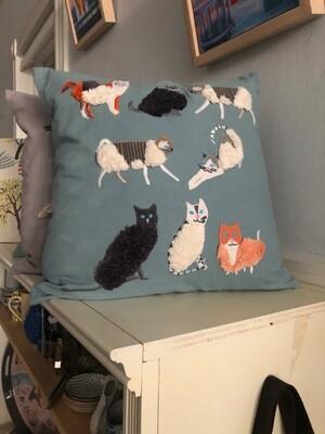 Lounging Cats Pillow