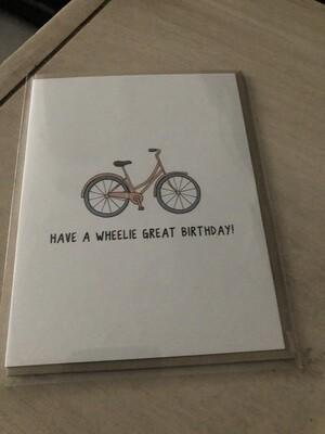 Wheelie Great Birthday Card