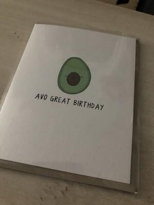 Avo Great Birthday Card