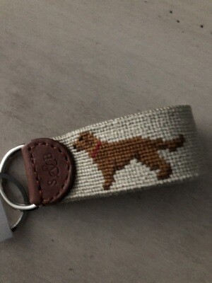 Chocolate Lab Key Fob