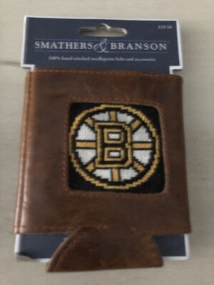 Boston Bruins Needlepoint Can Cooler