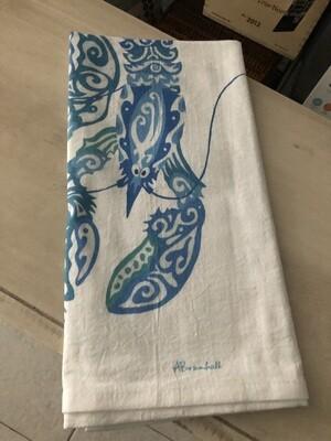 Maori Lobsters Flour Sack Towel