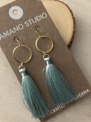 Seafoam Tassel Earrings