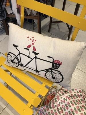 Love Birds On Bike Pillow