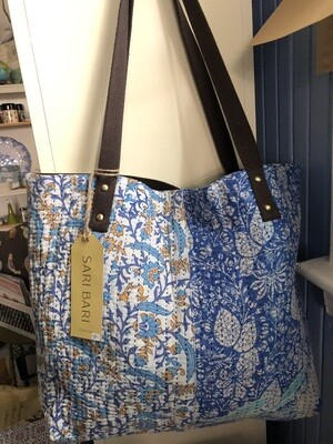 Sammana Tote Bag - Blue & Gold
