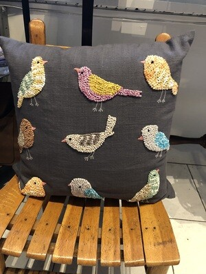 Knotty Birds Colorful Pillow