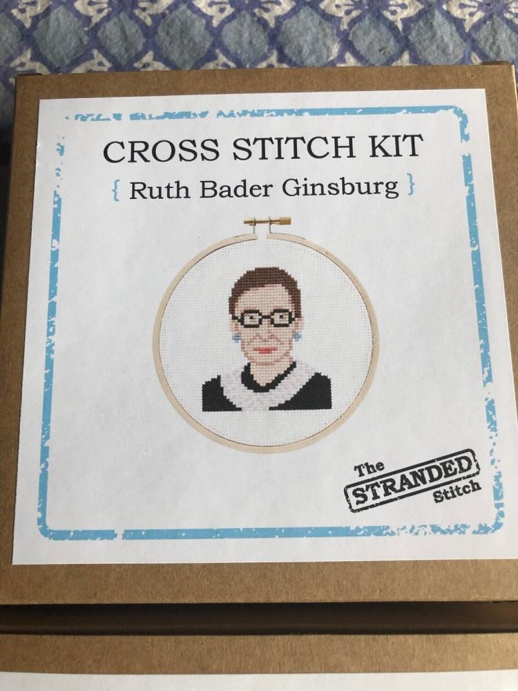 Ruth Bader Ginsburg Cross Stitch Kit