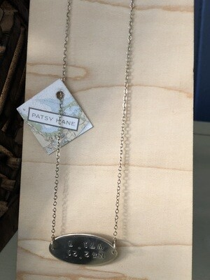 Horizon Necklace With North End Coordinates
