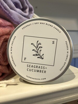 Seagrass & Cucumber Candle - 14 oz.