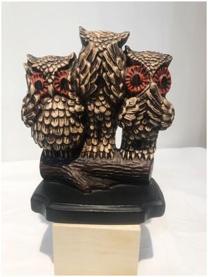 Hear No Evil, See No Evil, Speak No Evil Vintage Owls