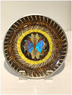 1970's Butterfly Wing Metal Plate