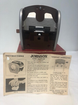 1950's Johnson Card Shuffler with Original Box