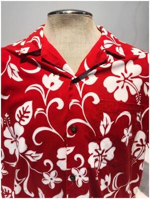Men's Vintage RJC Hawaiian Shirt with Hibiscus Flowers