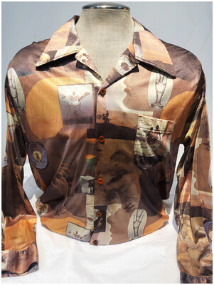 Men's Vintage Grand Slam Disco Long Sleeve Shirt
