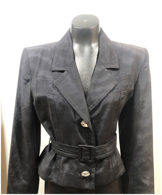 1980's Givenchy Crop Jacket with Belt