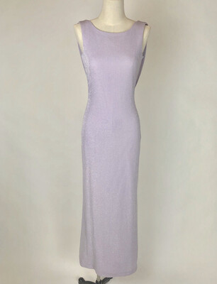 90's Backless Stretch Metallic Gown