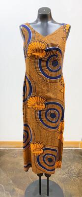 Vintage 1960's B. Altman Afrika Print Dress