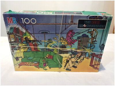 1986 Complete Ghostbusters 100 Piece Puzzle
