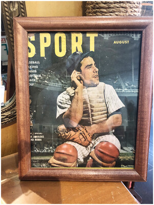 1961 Yogi Berra Magazine Cover Framed
