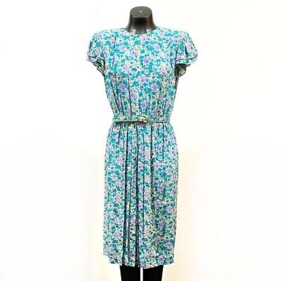 Vintage 1970's Floral Silk Dress