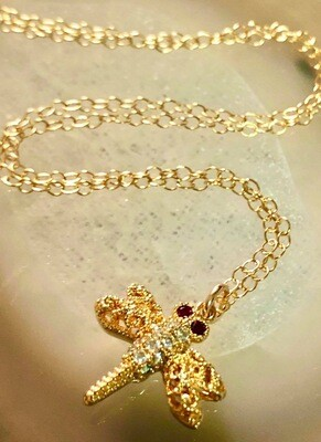 """14kt Gold Filled & Plated Fine Filigree Wings, 18"""""""