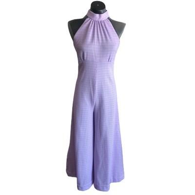 Vintage Handmade Halter Top Jumpsuit
