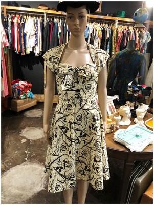 Vintage 1950's Two Piece Handmade Dress