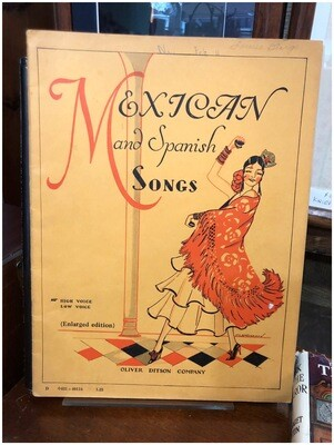 Vintage 1938 Mexican and Spanish Song Book
