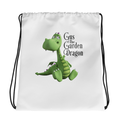 Gus the Garden Dragon Drawstring bag