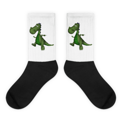 Gus the Garden Dragon Socks