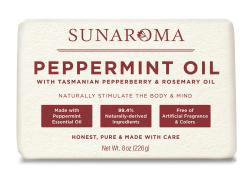 Sunaroma Soap-Peppermint Oil with Tasmanian Pepperberry & Rosemary