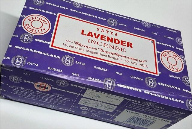 Satya Lavender Incense Box