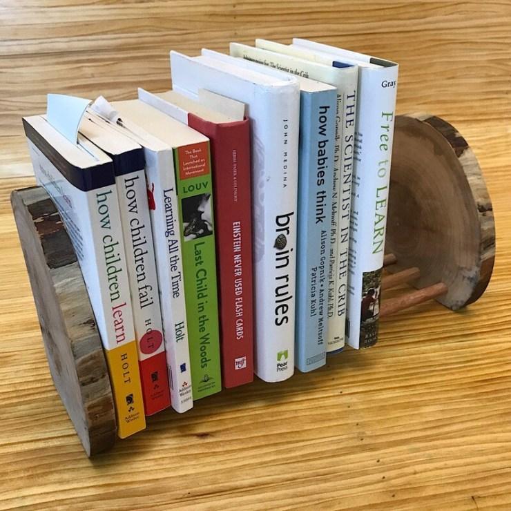 Wooden Book Rack #0001