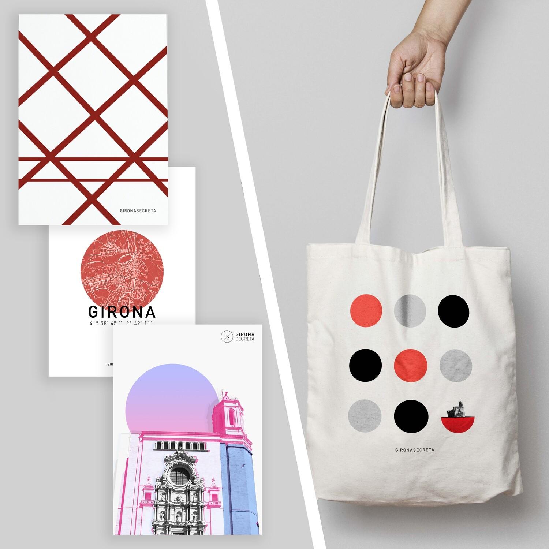 Pack: 3 pòsters i bossa 3 en ratlla
