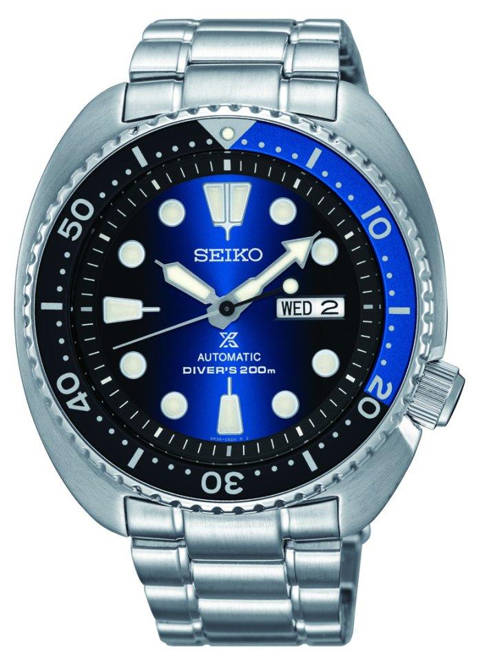 "Seiko PROSPEX ""Turtle"" Automatic Diver's 200M S/S with Black/Blue Bezel ***Pre-Order*** SRPC25"