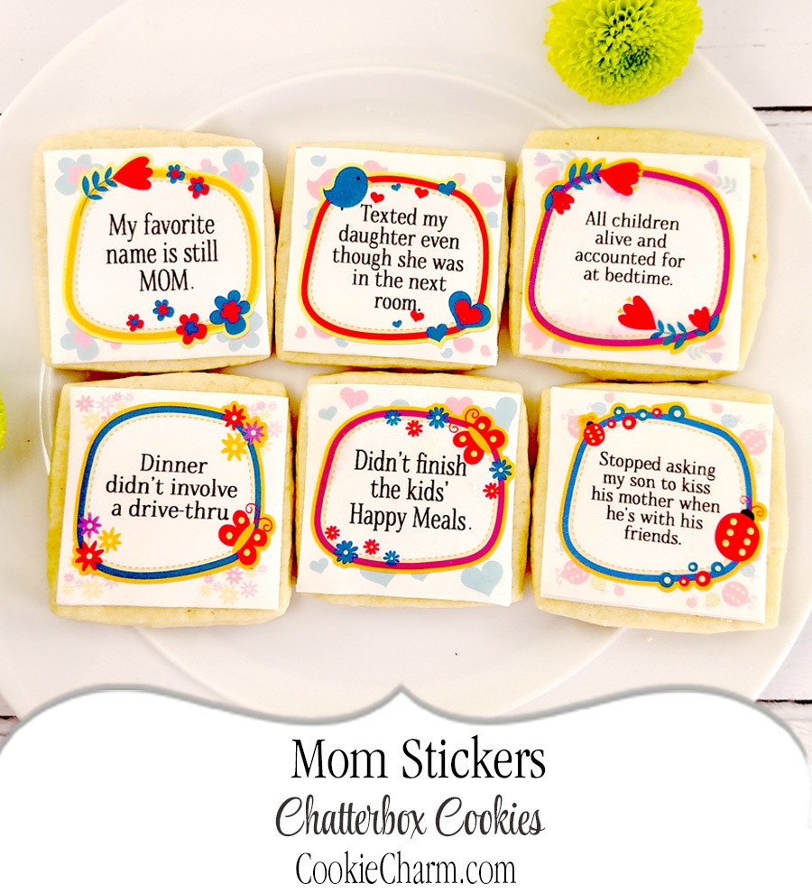 Mom Stickers Chatterbox Cookie Gift Box CC-PL3M-AO-1605
